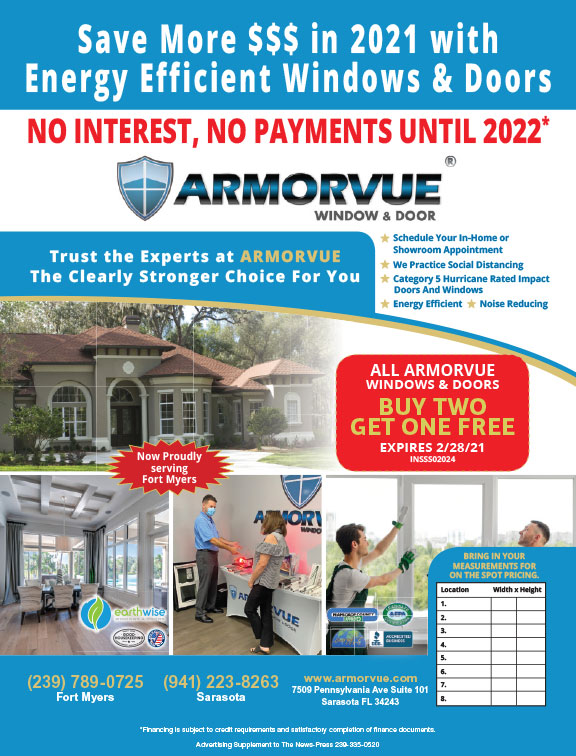 Buy Two, Get One Free on All Windows & Doors! (Sarasota/Fort Myers)
